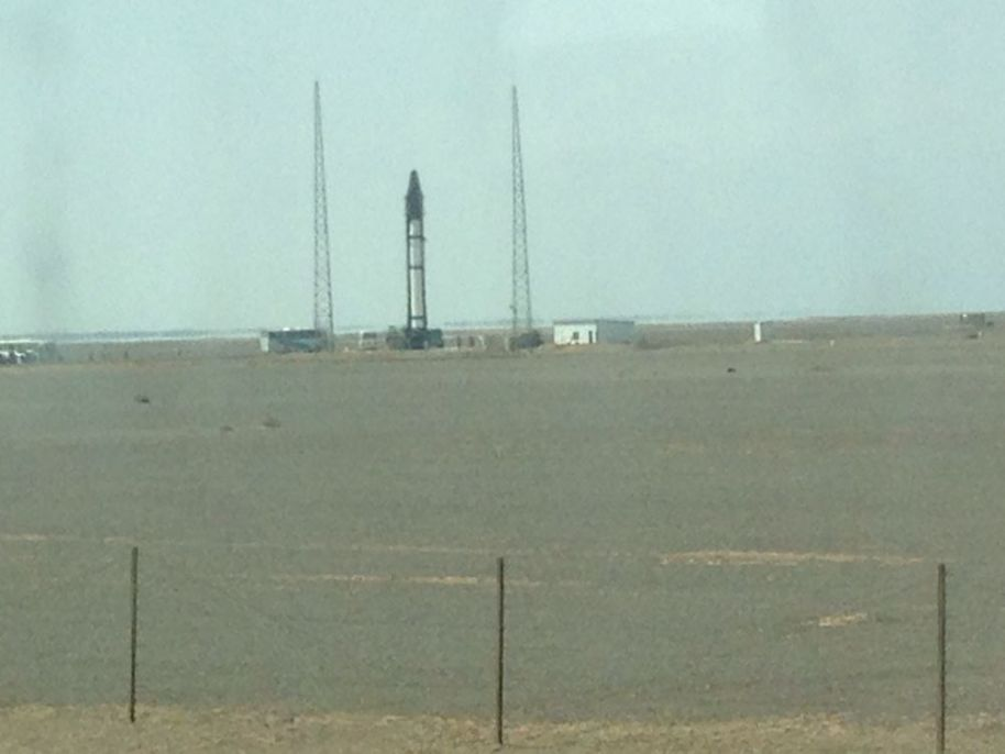 An Internet-source photo of the Kuaizhou 1 launch site located inside the Jiuquan Satellite Launch Centre