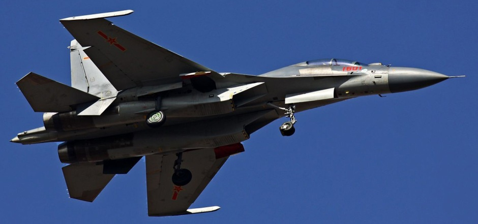 A J-16 prototype in flight test