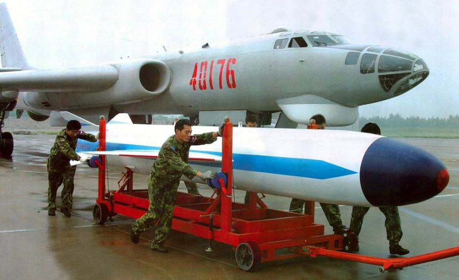The KD-63 air-to-surface missile and its carrier the H-6H missile bomber
