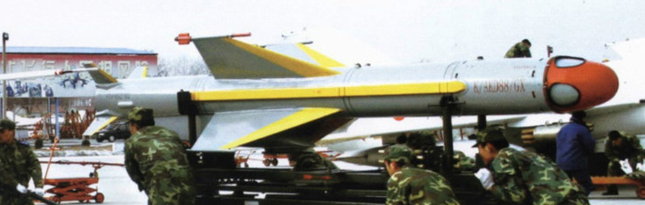 KD-88 air-to-surface missile is similar in concept to the U.S. AGM-84 SLAM, but is fitted with a TV-seeker which is more prone to adverse weather and enemy jamming