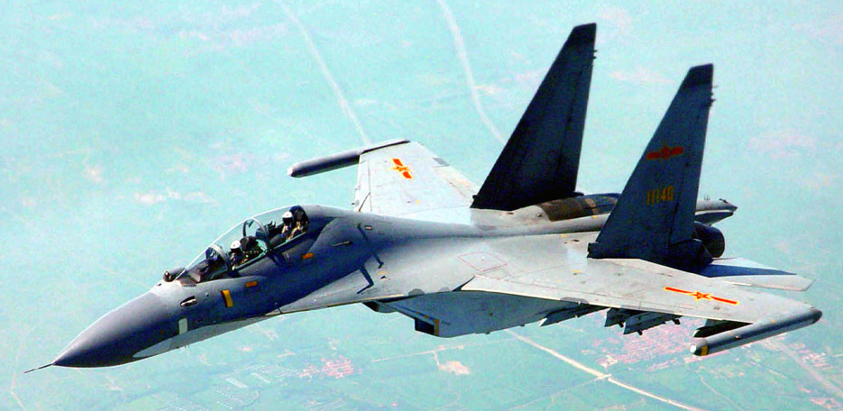 A PLAAF Su-30MKK in flight