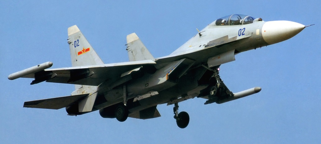 A Su-30MKK2 in Naval Aviation colour