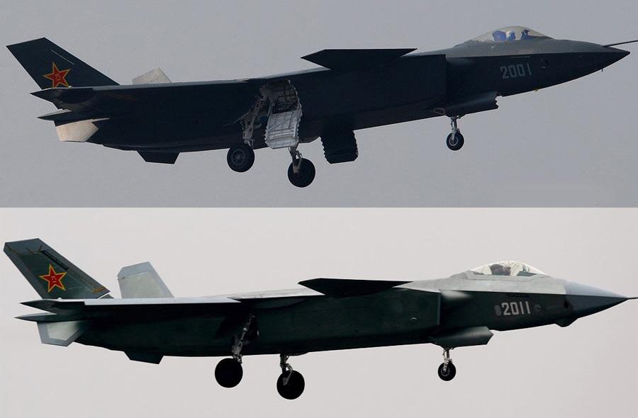 (Top) J-20 prototype