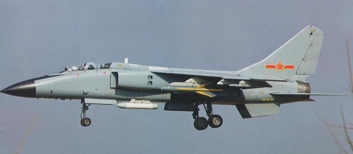 PLAAF JH-7A carrying the KD-88 TV-guidance air-to-surface missile and the targeting pod