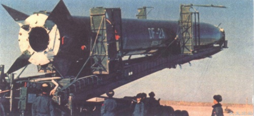 The improved DF-2A at the Jiuquan launch site in the 1960s