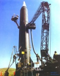 DF-3 missile in pre-launch preparation