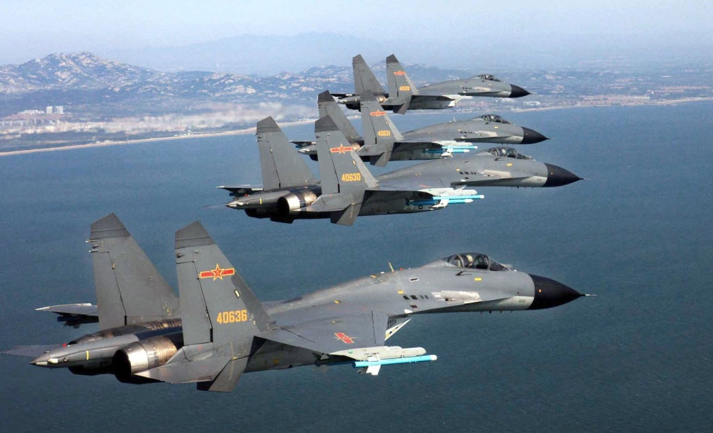 J-11B in formation
