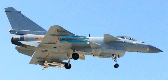 Chengdu J-10B carrying PL-8 and PL-10
