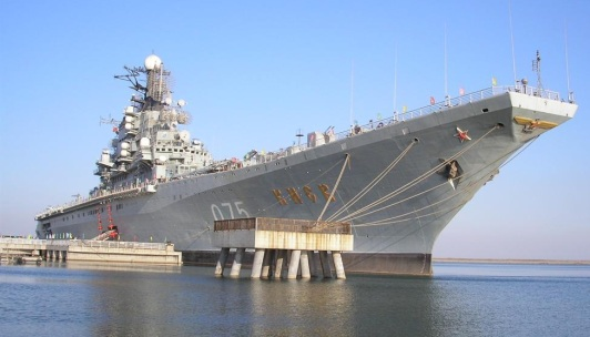 Ex-Soviet Navy aircraft carrier Kiev, now stationed in Tianjin