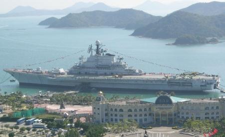 Ex-Soviet Navy aircraft carrier Minsk, now stationed in Shenzhen