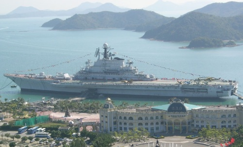 Ex-Soviet Navy aircraft carrier Minsk, now stationed in Shenzhen