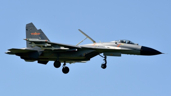 PLAAF J-11B armed with PL-8 and PL-12