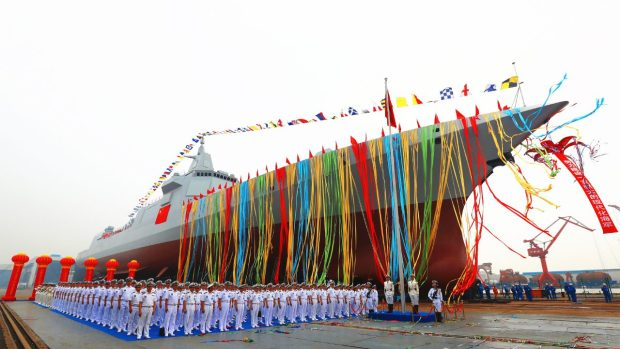 Type 055 Renhai class launch 28 June 2017 1