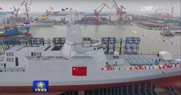 Type 055 Renhai launch 28 Jun 2017